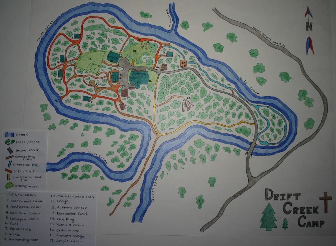 Fall City Oregon Map.Area Maps Drift Creek Camp